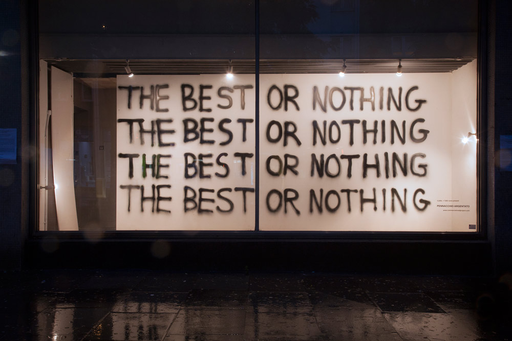 The best or nothing / Pennacchio Argentato / Londra