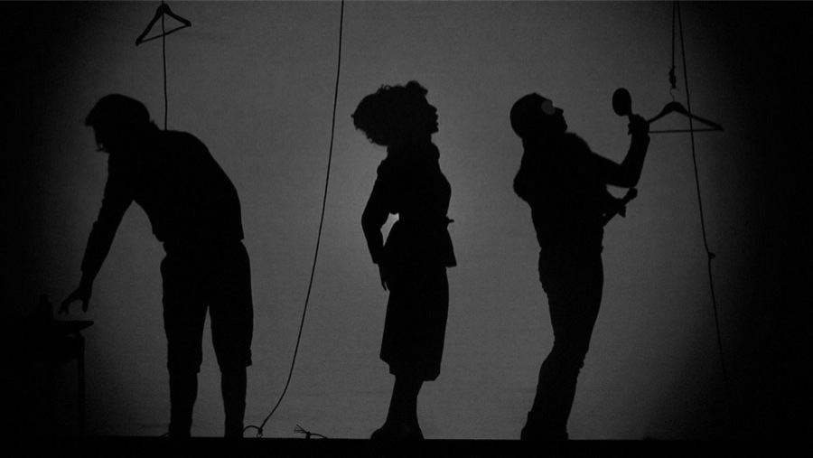 Still frame from Shadow Play 2012 Black and white film,   2 channels HD film,   7'9'' Courtesy the Artist,   Monitor,   Rome and Art : Concept,   Paris Photo credits by Massimo Valicchia