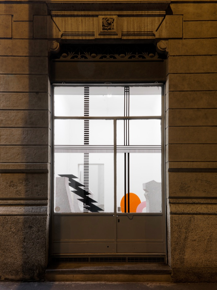 Dario Guccio Untitled,   2013 Vinyl print; dimensions variable Installation view at Gasconade,   Milan,   2013 - Foto: Alessandro Zambianchi