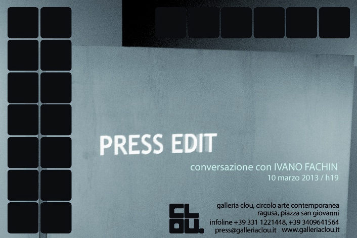 Press Edit - conversazione con Ivano Fachin