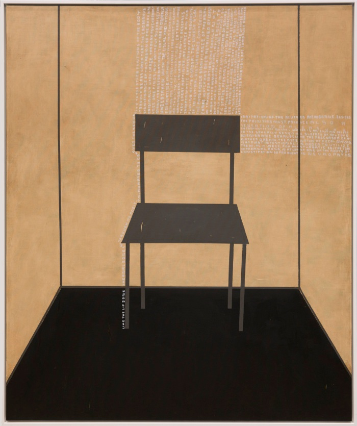 Thomas Zipp,   A. B.: Membranes,   2013 oil and marker on canvas cm 185 x 155