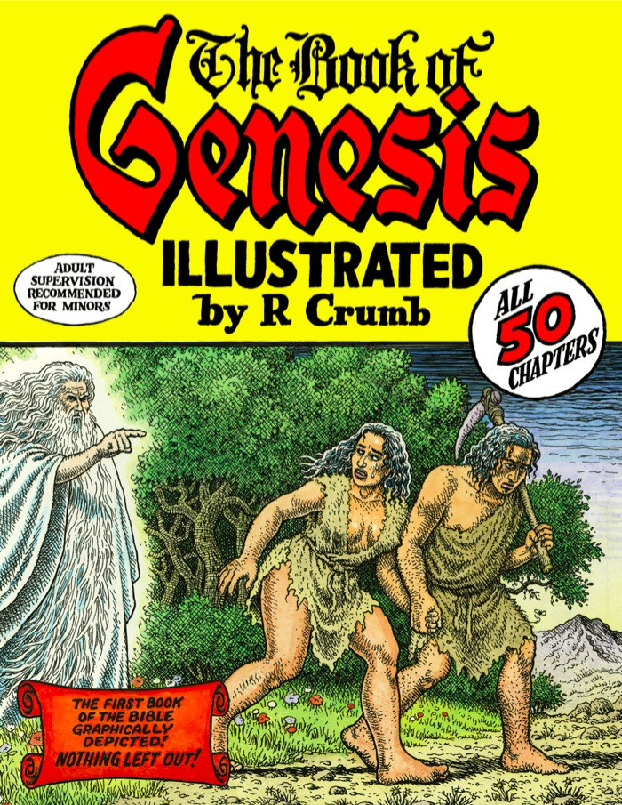 R. CRUMB The Book of Genesis Illustrated by R. Crumb,   2009 Pen and ink on paper 207 pages,   dimensions vary slightly Includes 201 story pages,   front cover,   title page,   dedication,   intro by artist,   hand-drawn map,   and back cover © Robert Crumb,   2009. Courtesy the artist,   Paul Morris,   and David Zwirner,   New York/London