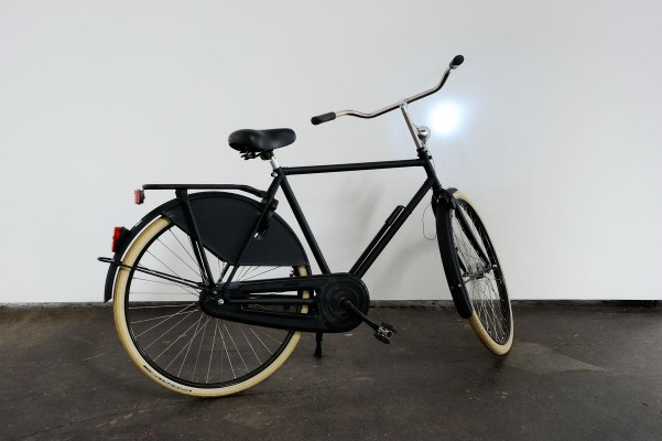 Giovanni Giaretta,   'Bicycle',   2011 Bike,   special lamp system,   action