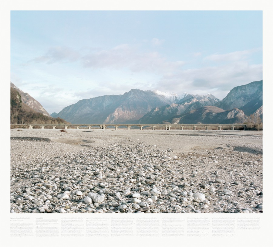 The Cool Couple Approximation to the West,   Fiume Tagliamento,   Trasaghis #001A/B,   2013  Stampa a pigmenti su carta fine art / Photo printing on fine art paper 130 x 290 cm Courtesy the artists