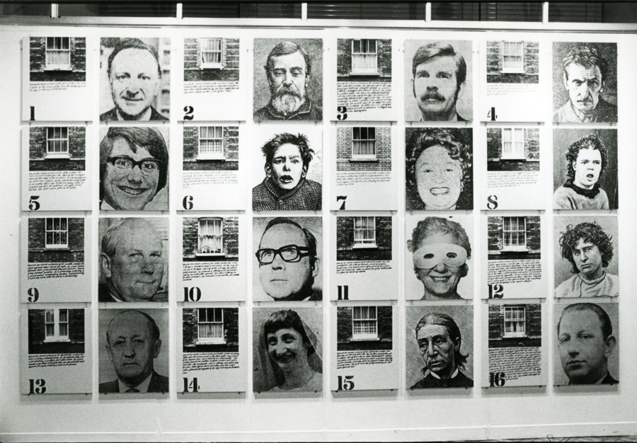 Ian Breakwell?Estate 1971-76 Photographs,   pencil and ink on board 32 parts,   each 61 x 52 cm Copyright the Estate of Ian Breakwell,   courtesy Anthony Reynolds Gallery,   London