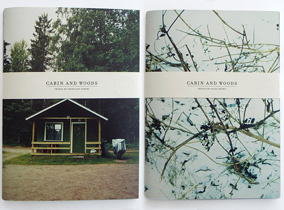 Two books holded by one band,   Cabin and woods,   0_100