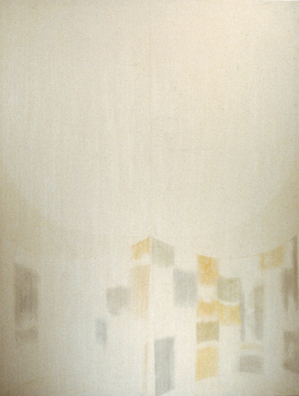 Duane Zaloudek,   Eleven - 70,   1970,   watercolor on canvas,   223,  5 x 172,  7 cm Courtesy: the artist and Monitor,   Rome
