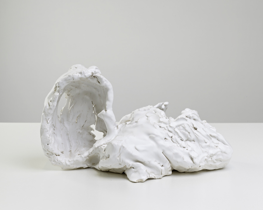 Peter Linde Busk, And I want a woman with thin ankles. But I am going to go home and there's going to be my wife, 2012, fired and glazed ceramic, 23 x 37 x 19 cm Courtesy: the artist and Monitor, Rome