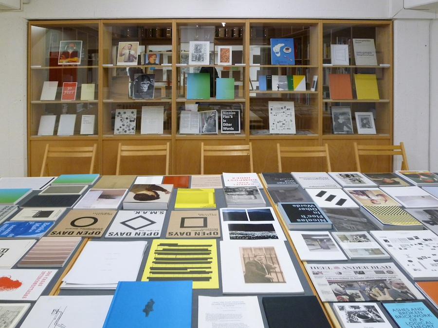 Roma Publications 1998 - 2012 installation view / veduta della mostra Research Centre for Artists' Publications,   Weserburg,   Museum für Moderne Kunst,   Bremen March 8 - May 13,   2012 / 8 marzo – 13 maggio 2012