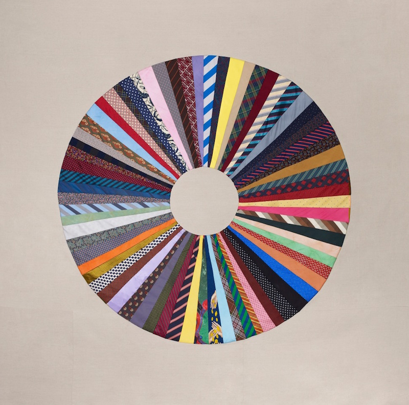 Ulla von Brandenburg,   Kreis / Innen ist Aussen (Circle / Inside is not Outside),   2013. Patchwork,   ties,   fabric. 250 x 250 cm. Courtesy of the artist and Pilar Corrias Gallery.