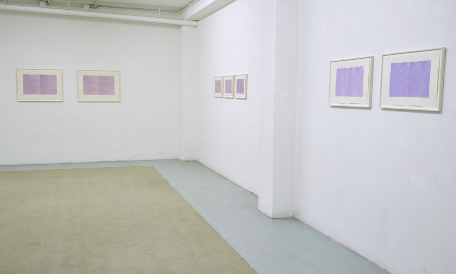 Irma Blank - Pink Writings,   Lucie Fontaine,   Milano 2015 - Installation view