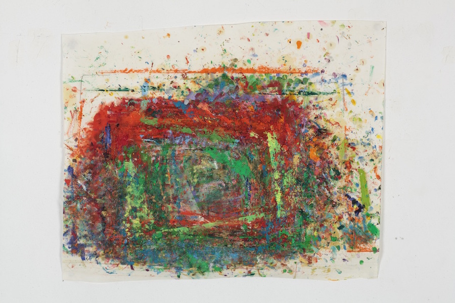 Maria Morganti,   Impronta Carte:Diario,   2010:1012,   Venezia,   2012,   oil pastel and oil stick on paper,   cm 49×60,   detail; courtesy OttoZoo