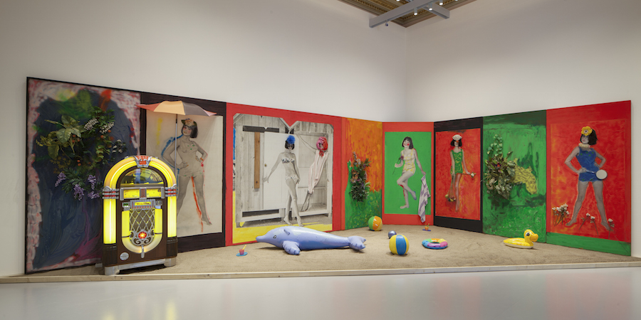 Martial Raysse,   Raysse Beach,   1962 Centre Pompidou - Muse?e national d'art moderne,   Paris Installation view at Palazzo Grassi 2015 Ph : © Fulvio Orsenigo © Martial Raysse by SIAE 2015