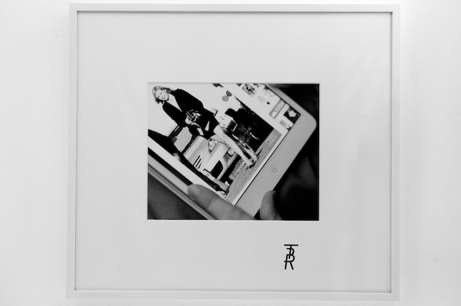 Tobias Kaspar,   TBR (fig. 13) On the set of The Bling Ring,   Silver gelatine hand print,   silkscreen on matt,   frame,   2013 / 2015. Edition of 3 + 2AP. Courtesy the artist and Galerie Peter Kilchmann,   Zürich and Fondazione Memmo Arte Contemporanea,   Roma