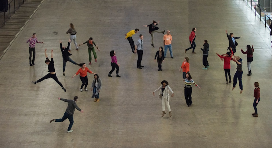 Boris Charmatz,   Levée des conflits 2010,   as part of BMW Tate Live - If Tate Modern was Musée de la danse? Photo © Hugo Glendenning 2015