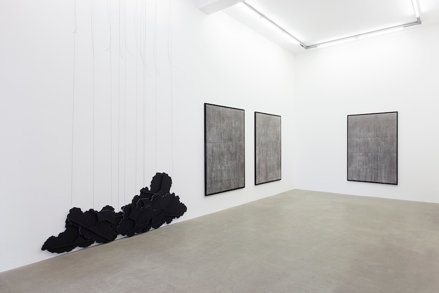 Latifa Echakhch,   there's tears,   installation view,   kaufmann repetto,   Milano,   2015 - Courtesy The artist,   kaufmann repetto,   Milano - Photocredit Andrea Rossetti