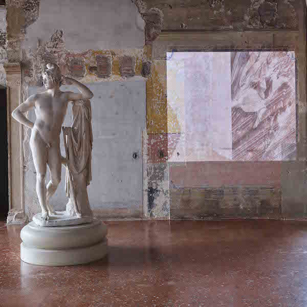 Paride,   Canova and Castella,   Installation at second floor of Palazzo Fortuny © Jean-Pierre Gabriel