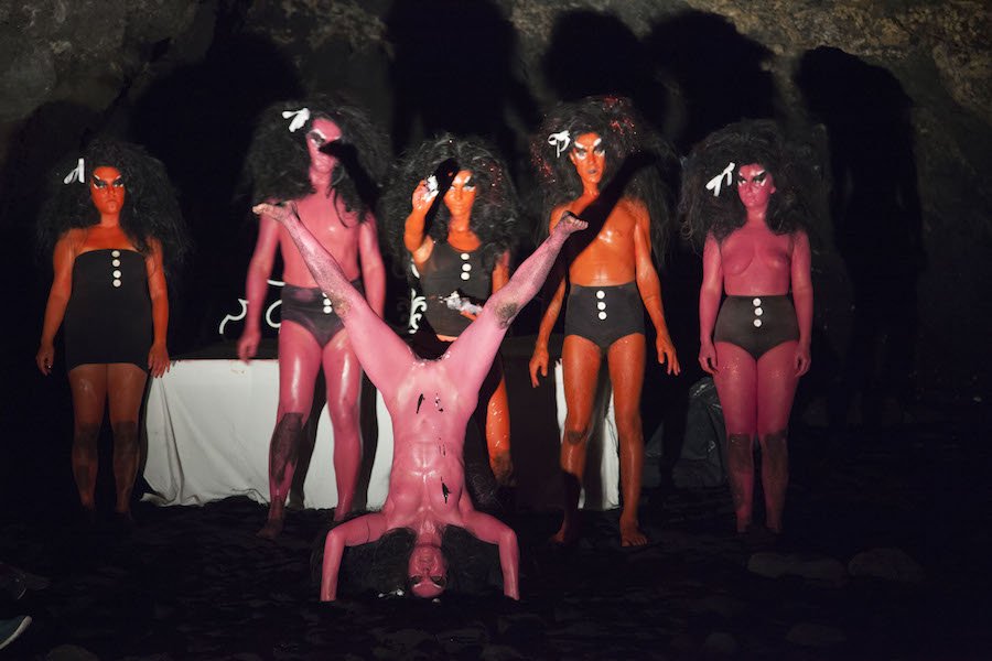 23 Luglio 2015 -  Kembra Pfahler,   Fuck Island - Volcano Extravaganza 2015,   In Favour of a Total Eclipse - Courtesy of the artist and Fiorucci Art Trust,   Photography by Giovanna Silva