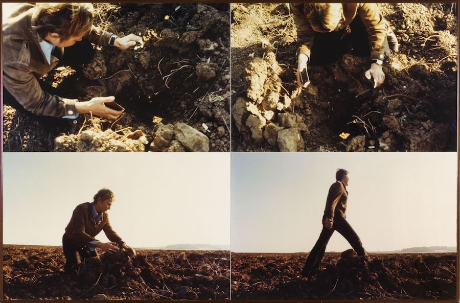 Gina Pane,   Enfoncement d'un rayon de soleil,   1969,   4 colour photographs,   110 x 163 cm overall Collection Anne Marchand /On deposit at the Frac des Pays de la Loire © Gina Pane/ ADAGP © Photo.Ville de Nantes,   Musée des beaux-arts,   Cécile Clos Courtesy Anne Marchand and Kamel Mennour,   Paris