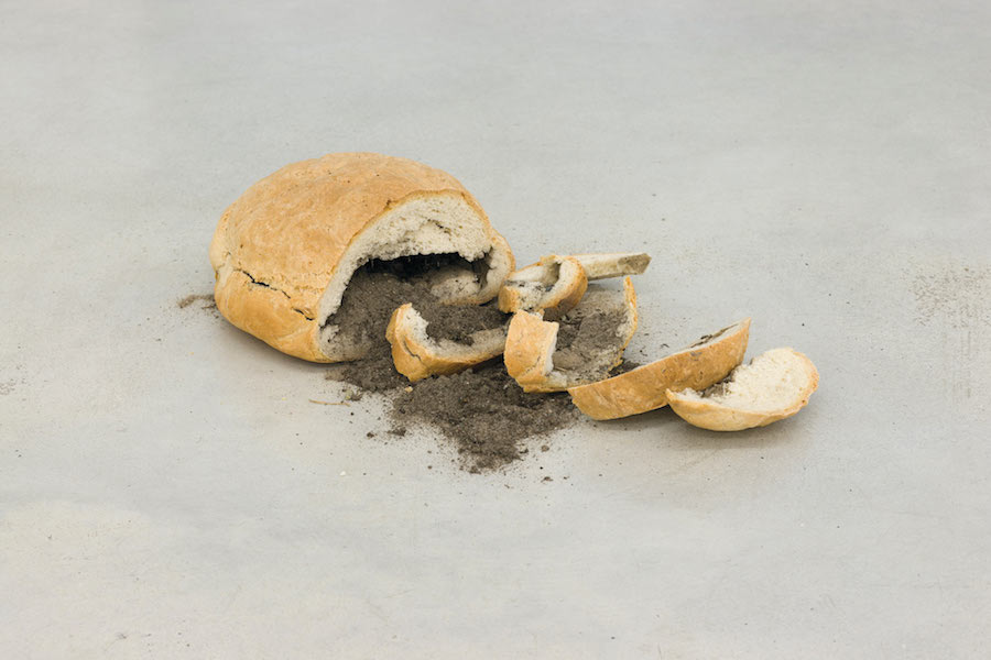 Marzena Nowak,   Bread with Soil,   2014-2015 Courtesy Galerija Gregor Podnar