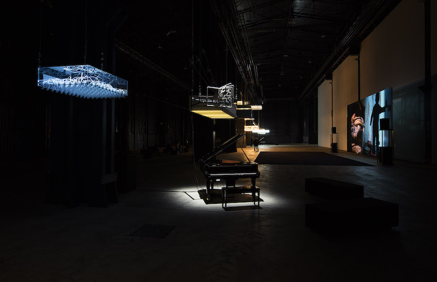 "Philippe Parreno ""Hypothesis"",   installation view at HangarBicocca,   Milan Courtesy of the Artist; Pilar Corrias Gallery; Gladstone Gallery; Esther Schipper; Fondazione HangarBicocca,   Milan Photo: ©Andrea Rossetti"