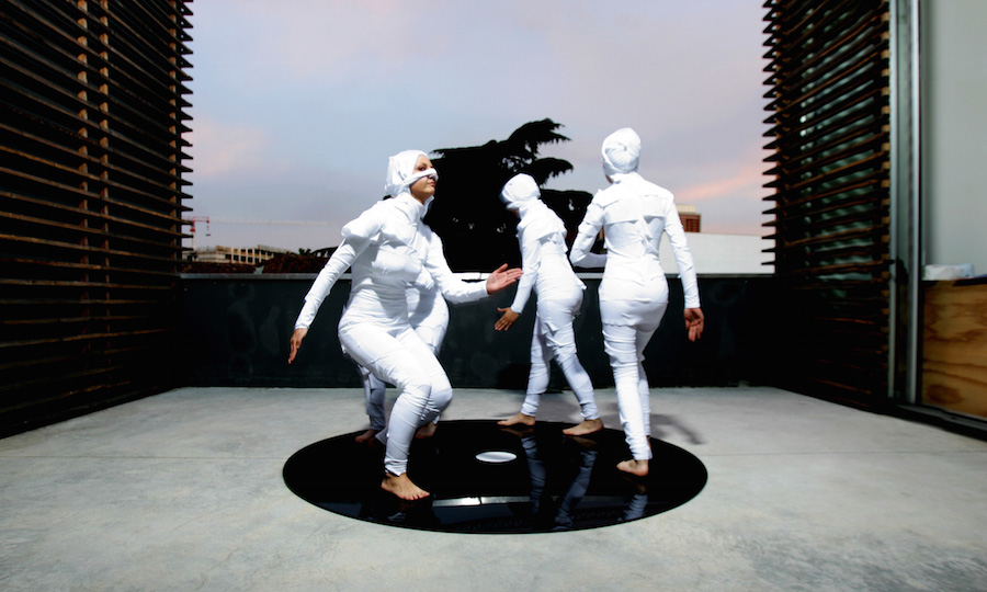 Massimo Grimaldi,   Egypt,   2006 Dancers,   costumes,   methacrylate base Dimension variable Courtesy the artist and ZERO