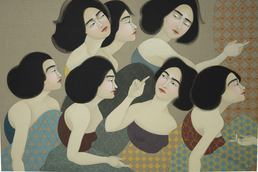 Hayv Kahraman The Translator,   2015 House in Gaylani,   2014 Courtesy The Third Line,   Dubai