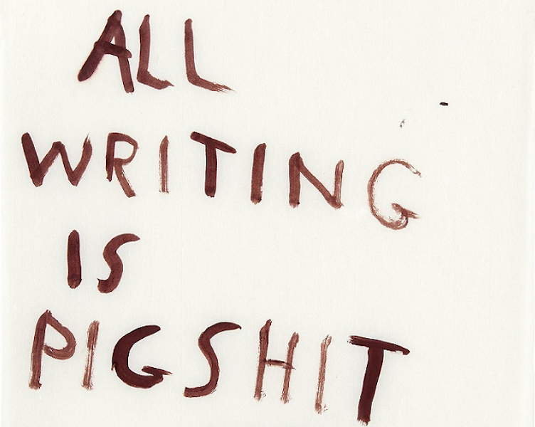 All writing is pigshit — Teatrino Palazzo Grassi