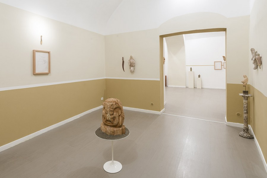 Evgeny Antufiev,   Fusion and Absorption,   2015,   installation view at z2o Sara Zanin Gallery,   Rome - Courtesy z2o Sara Zanin Gallery,   Rome - Ph. Sebastiano Lucia