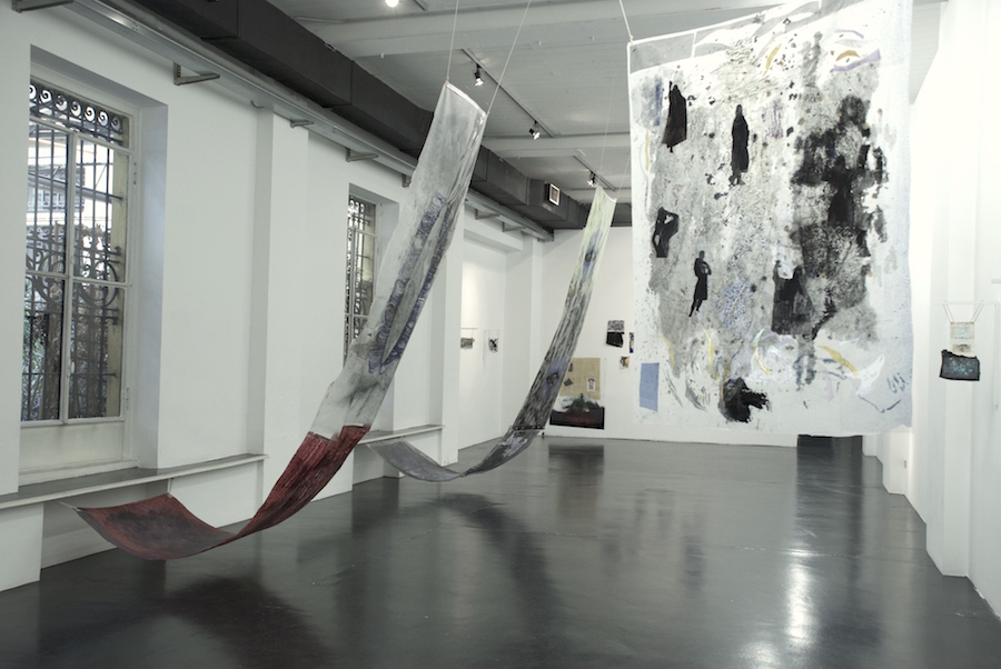 Ala Dehghan,   Jump-Cut to Eyeline-Match-Forgetting the Sound of Her Voice,   installation view  - Courtesy Otto Zoo,   Milan