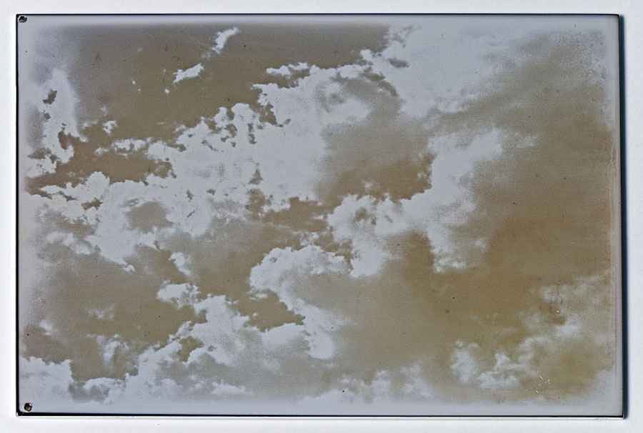 Evariste Richer,   Nuages au iodure d'argent,   2005. 3 daguerreotypes,   each 6 x 9 cm (Courtesy the artist)