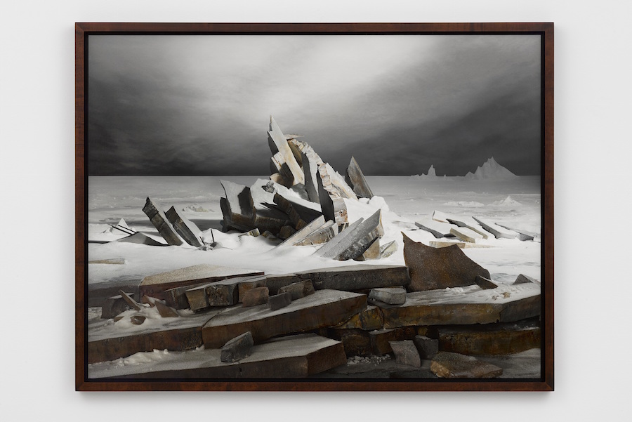 James Casebere,   Sea of Ice 2014 Digital fine art pigment print 95.9 x 126.4 cm (print) - Courtesy Lisson Gallery London,   Milan