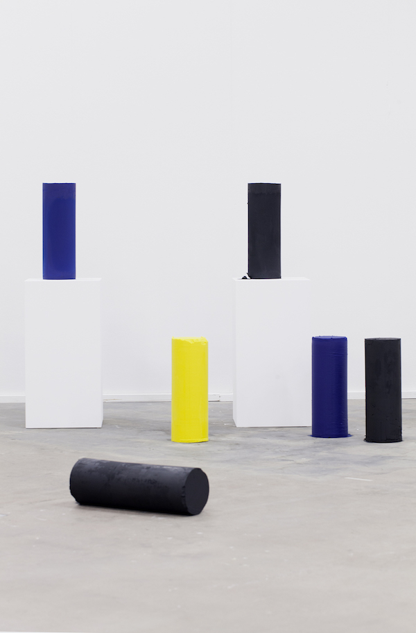 Kilian Rüthemann,   «Tools»,   2014 linseed oil,   organic fat,   pigments each 19 x 57cm Courtesy: RaebervonStenglin