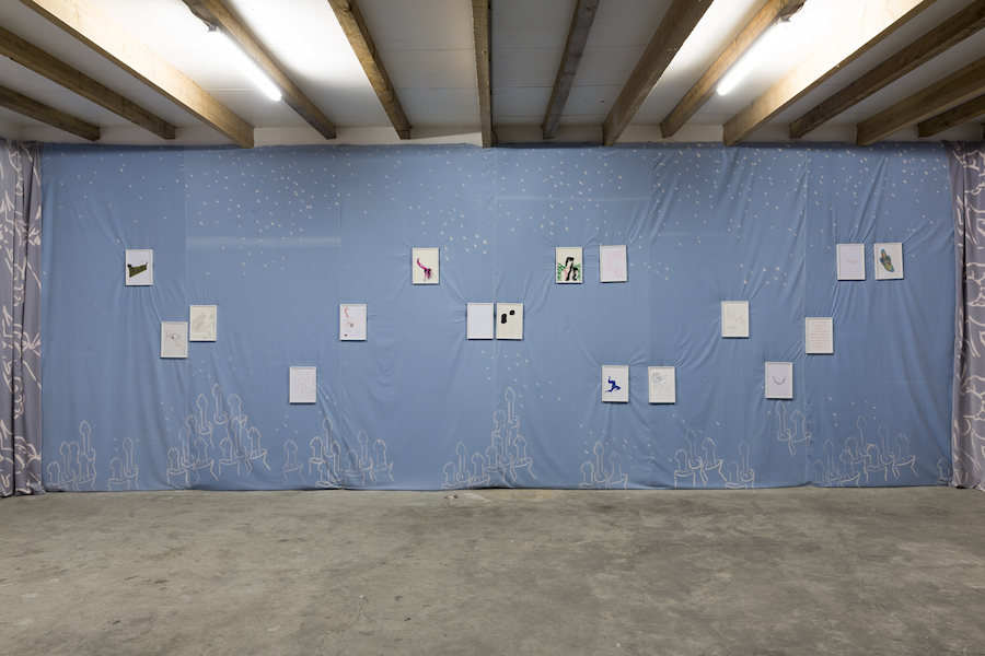 Installation view,   Beatrice Marchi,   Susy Culinski & Friends,   Fanta Spazio,   Milan,   2015 Courtesy of the artist and Fanta Spazio,   Milan Photo: Roberto Marossi