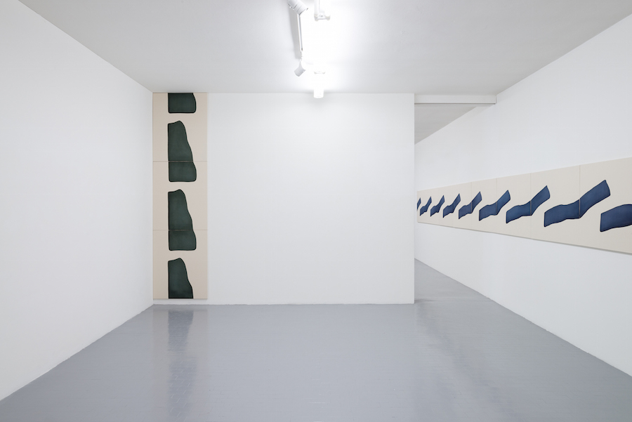 Landon Metz,   &,   2016 -  Installation view at Galleria Massimo  Minini,   Brescia