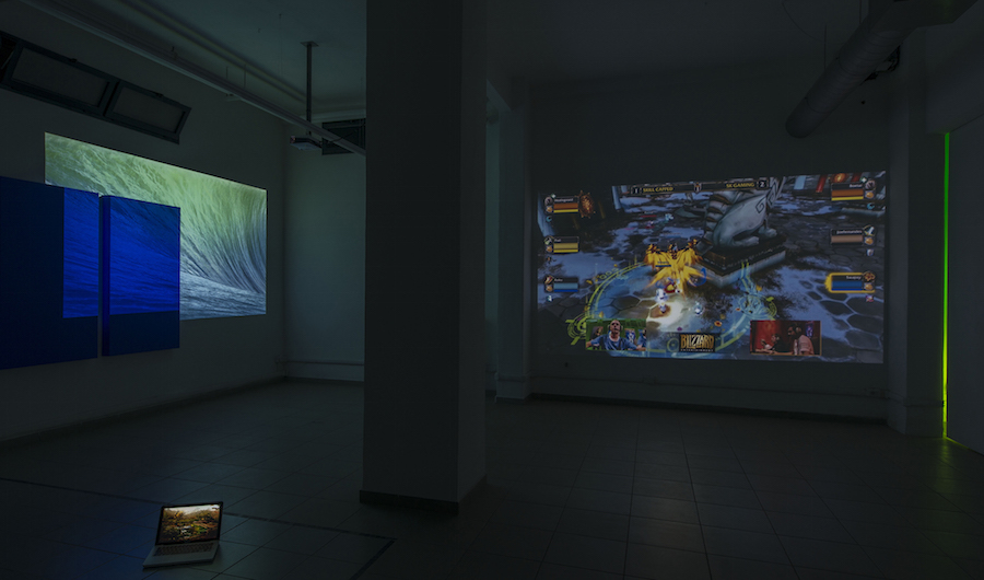 Over Yonder, installation view (basement) , courtesy The Gallery Apart Rome, photo by Giorgio Benni