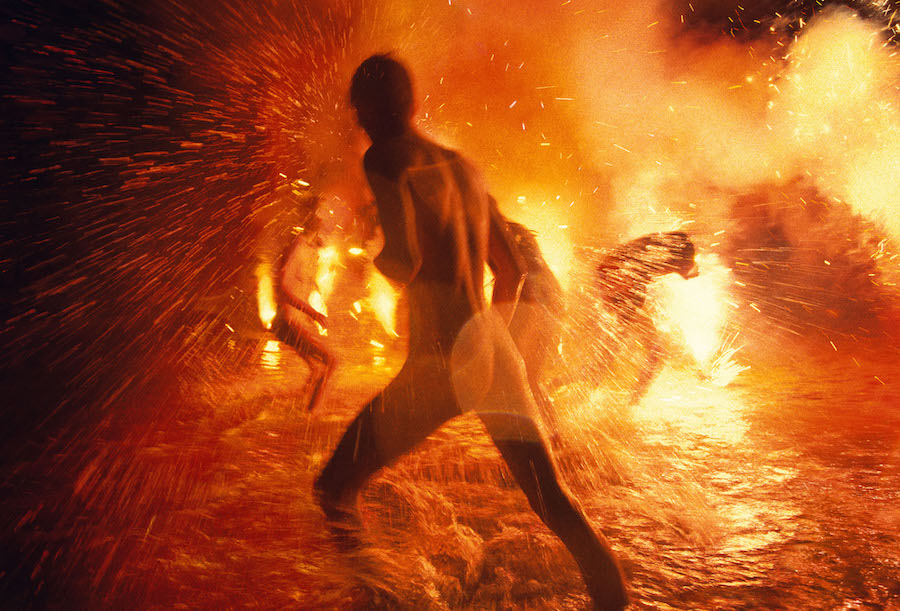 Ryan McGinley_ Wet Blaze,   2013 C-print 72 x 106 inches / 183 x 270 cm Courtesy the artist and Team Gallery
