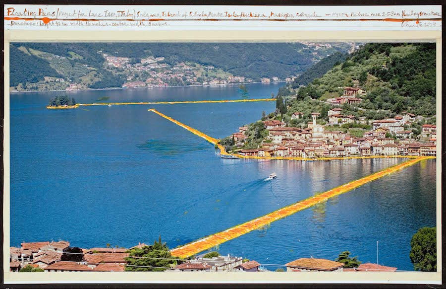 Christo and Jeanne-Claude sul lago d'Iseo