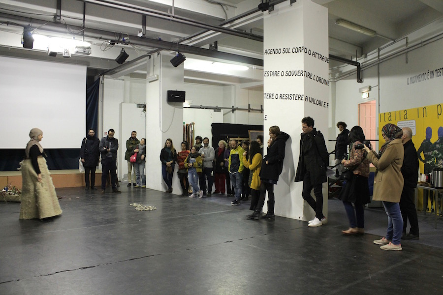 Ph. © UNIDEE 2015 ­ Open studios long term Artists in Residence. Performance­  2 8Oct 2015