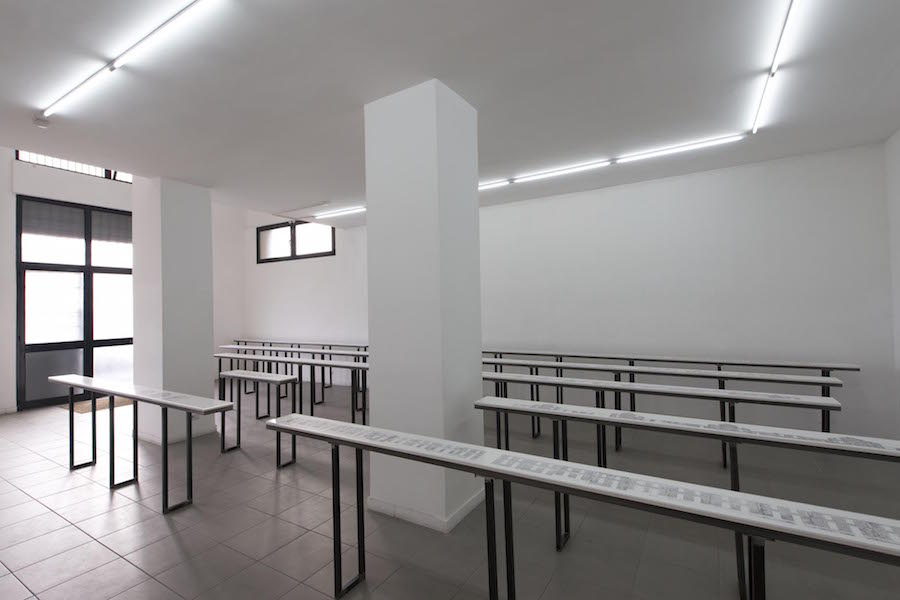 Bertille Bak,   Radice,   installation view at The Gallery Apart,   Rome,   (ground floor),   photo by Giorgio Benni