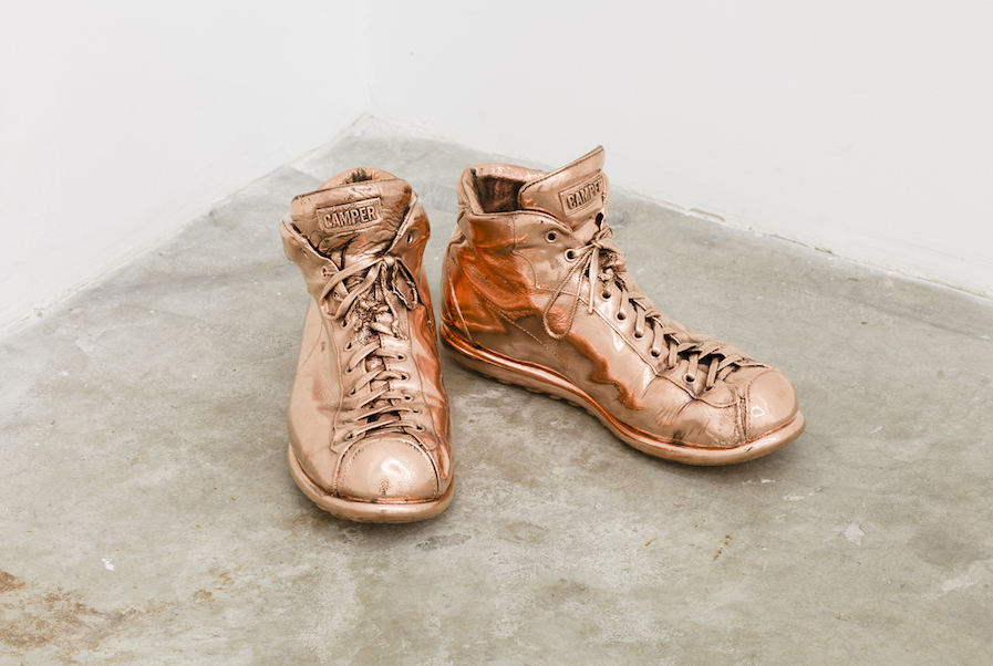 Ry Rocklen  Copper Canyon,   2003-2014  Copper plating  6.75 x 14 x 11 inches  Courtesy the artist and Honor Fraser Gallery