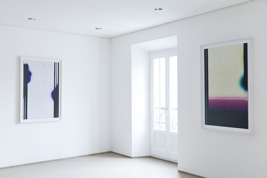 Elizabeth McAlpine cinematic sediments courtesy Rita Urso ArtopiaGallery,   Milano –  Installation view