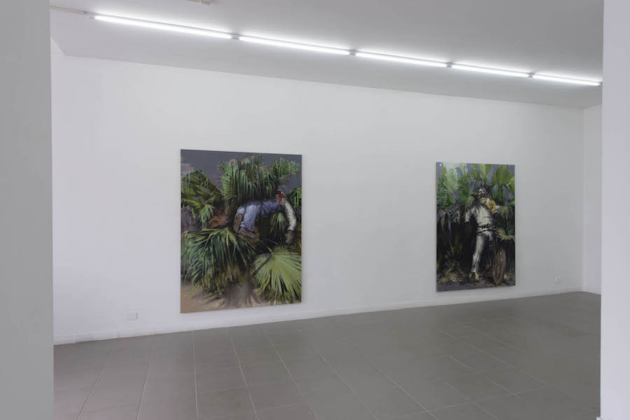 Alessandro Scarabello,   The Garden of Phersu,   2016,   installation view (ground floor) at The Gallery Apart,   Rome,   photo by Giorgio Benni