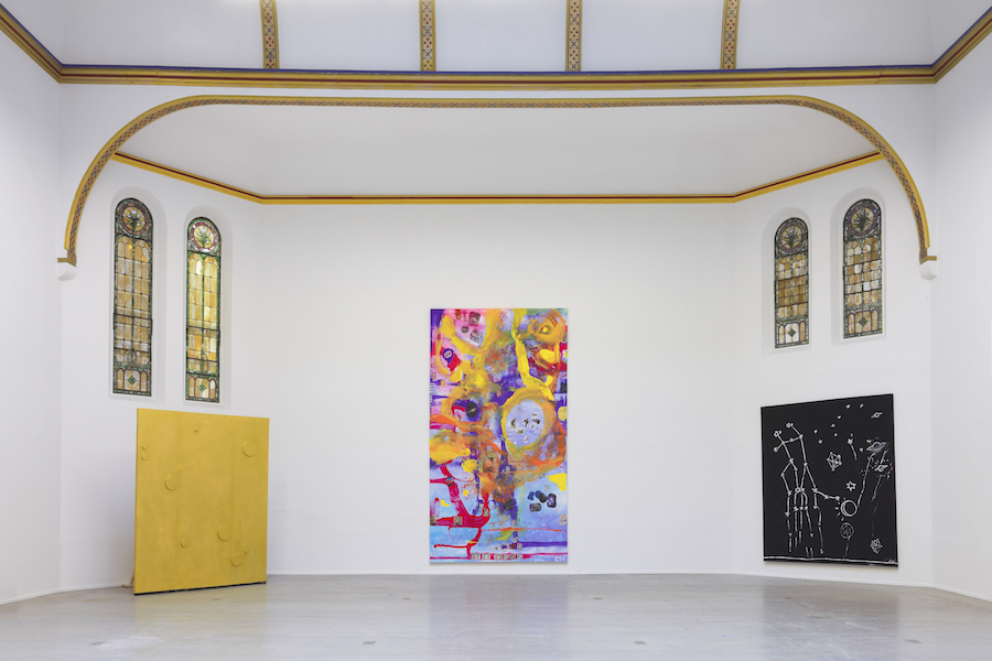 Chris Martin,   2016,   Studio Rondinone,   New York,   NY,   Installation view Courtesy of David Kordansky Gallery,   Los Angeles,   CA and Anton Kern Gallery,   New York,   NY Photography: Thomas Mu?ller