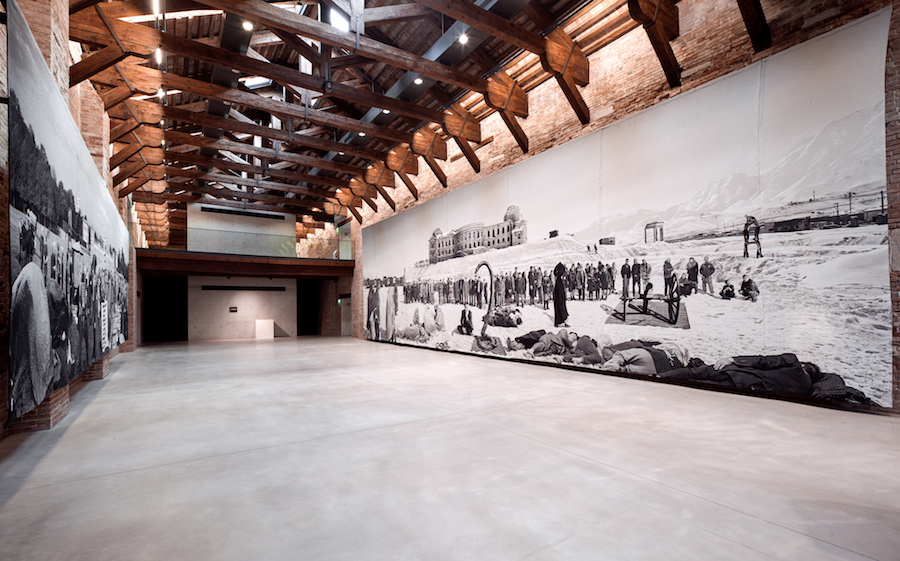 Goshka Macuga,   Of what is,   that it is; of what is not,   that it is not 1,   2012 / Of what is,   that it is; of what is not,   that it is not 2,   2012 Pinault Collection Courtesy the artist Installation view at Punta della Dogana,   2016 © Palazzo Grassi,   ph: Fulvio Orsenigo © Goshka Macuga by SIAE 2016