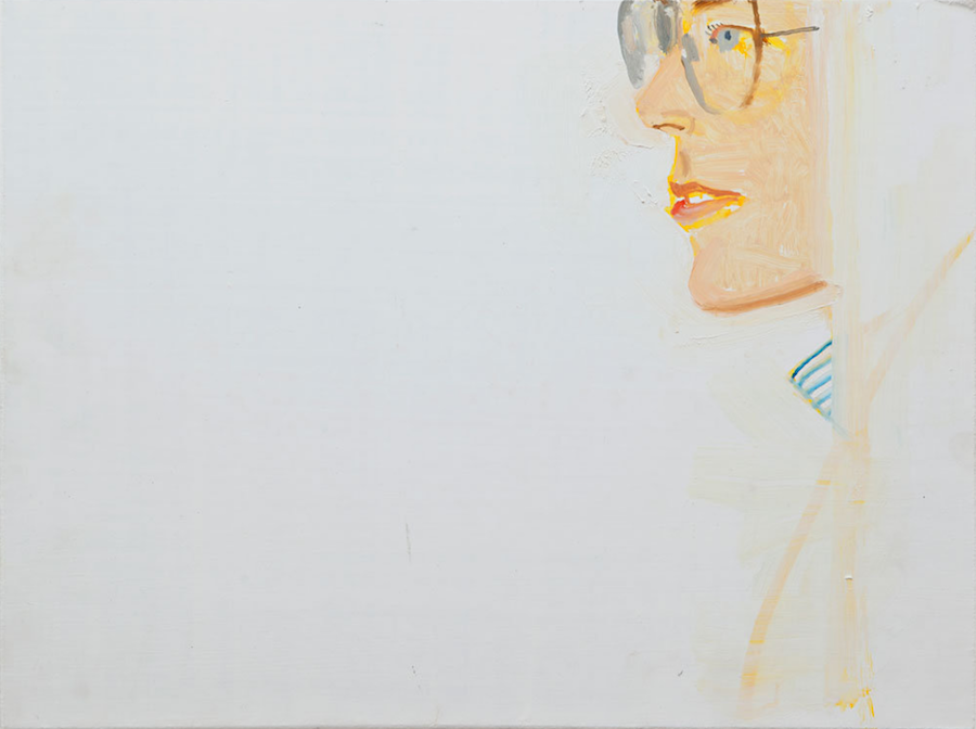 Alex Katz,   Lucy,   2013,   oil on board,   cm 30 x 40 - Courtesy Monica De Cardenas,   Milan
