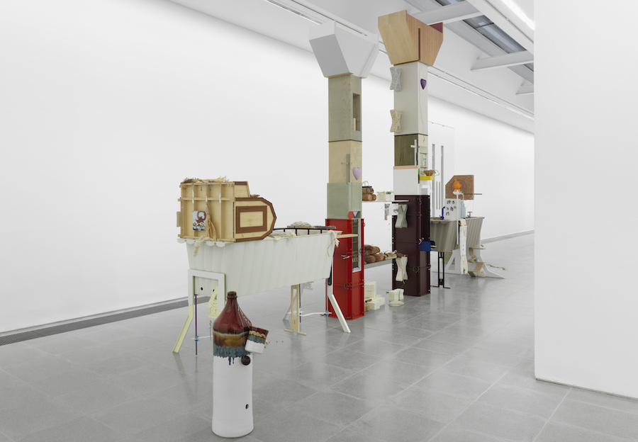 Helen Marten,   Drunk Brown  House; Installation View,   Serpentine Sackler Gallery - Photo © Annik Wetter