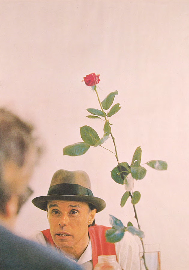 Joseph Beuys,   Manifesto-Rose for direct democracy,   1972,   stampa su carta,   78x56 cm,   Collezione Palli