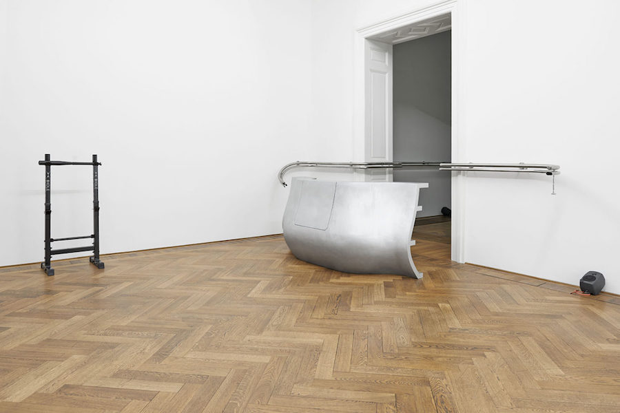 Anne Imhof,   Angst,   2016,   installation view at Kunsthalle Basel,   photo: Philipp Hänger