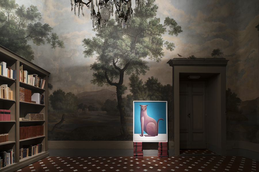 Nicola Party,   Nicolas Party Giant Fruit - Palazzo Antinori,   Firenze - Installation view Courtesy Antinori Art Project